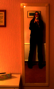 Claudia | in a hotel room in Fishguard, South Wales, UK