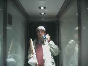 jean-michel | With my baguette in the lift | France - Paris - Montparnasse
