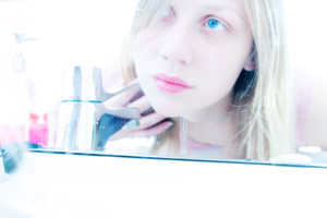 Marie Sjoevold | Bathroom mirror | My bathroom, Oslo, Norway