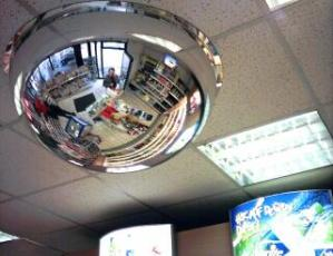 jochen | Me in a Mirror in a Shop | Germany, Gas Station
