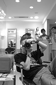 kai huang | waiting for client | H-Salon in Rustan's Makati