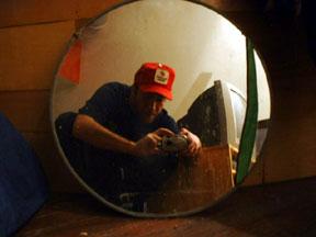 J. Goldberg | Crouching w/ Red Hat | Richmond, VA