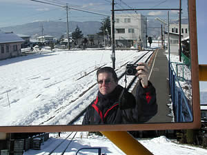 Kurt Easterwood | Waiting for the Train | Matsumoto, Japan