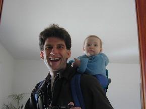 Dan Ruff | My daughter and I | Virginia livingroom