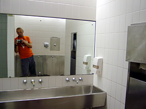 Andrew Fran�ois | Me looking at me looking at you in the loo | Ultimo, Sydney Australia