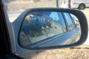 Nick Salvatore | in car window with house in car mirror | Maryland