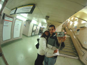 Sirio | fisheye mirror | London, underground station.