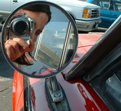 Cindy | retro side mirror | GHS parking lot