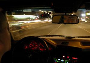 Kris Linquist | Night drive | Santa Clara, CA