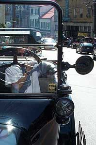 Bill Dugan   Self-portrait in windscreen   Ellicott City, MD