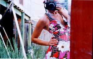 andrea scher | pink hawaiian polyester joy | san francisco, ca