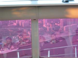 Veronique Xia | In the upper globe of TV tower, Shanghai, China