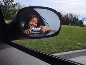 Ching | Ugly Broken Sideview Mirror, Beautiful Day | Bradley Fair -- Wichita, KS