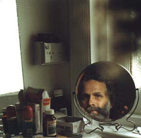 peter mitchell | self portrait in shaving mirror | a bathroom in Melbourne Australia