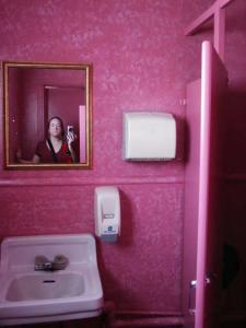 Jennifer | me in the pink loo | The Crowbar in Tecopa California