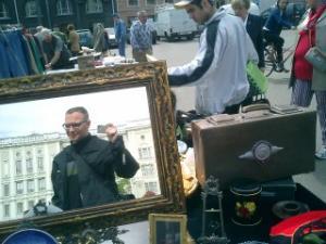 Cory Doctorow | Mirror at a Helsinki fleamarket | Helsinki, Finland