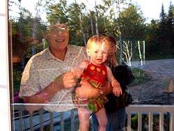 Allan O'Marra | Jean & Choe Wave Goodbye | Maxwell Settlement, Ontario