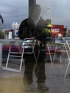Jarod | Reflection in a Cafe Window | Sydney, Australia