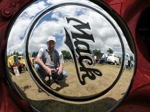 Ron Cillizza | Mack hubcap reflection | Hillsborough, New Hampshire