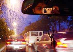 jill lejano | traffic in the rain | Makati, Philippines