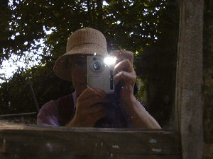 Judith Acand | The Mirror outside a garden loo! | Thornbury, South Gloucestershire England