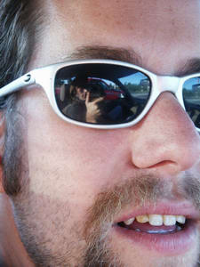 johnny boucher | steve talcott's shades | steve's car, on the way to amber & renee's