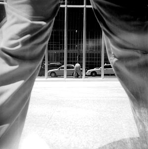 Allan O'Marra | Self-portrait, Under / Through My Legs | Toronto