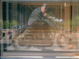 Karl | Motorcycle man many mirrors | seattle washington USA