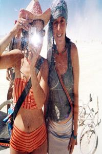 andrea scher | tall playa mirror | Black Rock City, Nevada