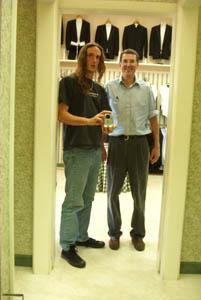 johnny boucher   dad & i at the tuxedo shop   gaithersburg, MD
