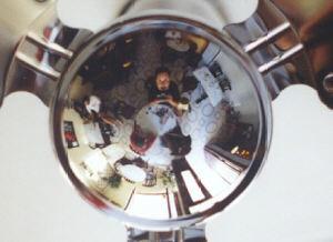 Pau | Shiny fan in Carrero Cafe-Bar. | vinar�s, spain