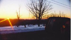 Adam J. Seidl | Rear View Sunrise | Hartland, CT, USA