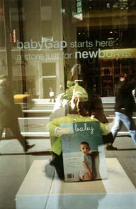sheila gatmaitan | scouting baby gap NY for martha stewart baby magazine | new york, NY