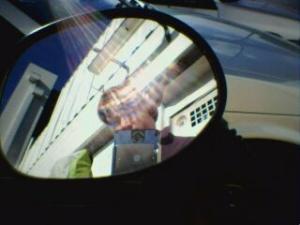 Brian Degger | Me in Scooter Mirror | Hindmarsh, Adelaide, Australia