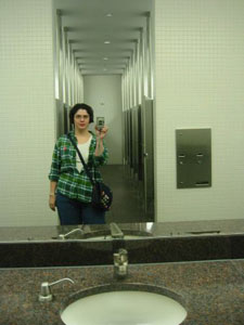Elaine Mesker-Garcia | in the mfa bathroom | Houston, TX