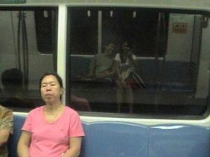 grace | On the MRT train | Singapore