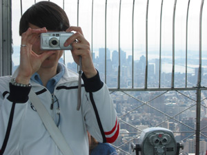 Sebastian | on top of empire state building | new york city