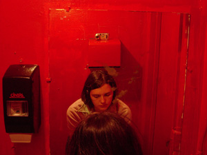 erica S. | red pizza bathroom | little 5-points, atlanta, GA