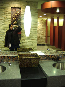 jaime | bathroom lounge | kelowna, british columbia, canada (mall bathroom)