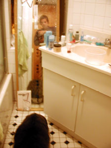 David Jacobs | Me and Jarvis in Lia's Bathroom | 84th Street, Manhattan