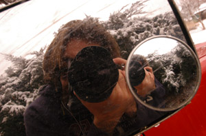 Charles Crabtree | Snowy Right-side Mirror | Wheat Ridge, Colorado