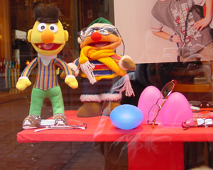 Naoise Guerin | Ernie and Bert at the opticians | Miltenberg, Germany