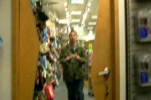 Brian G. Fish | blurry door | deptford mall, nj