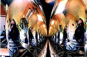 michael dohnalek   reflection off christmas globes