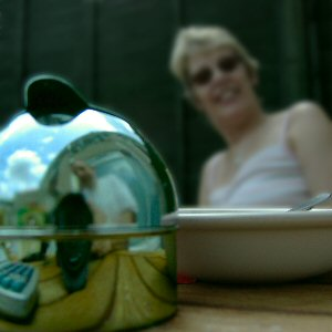 Felix Grant | Reflections on a chrome ashtray | Weston-super-Mare, UK