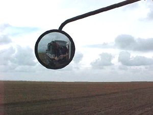 Jay Schleidt | on combine | rural oklahoma