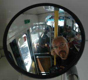 steve goodman | bus mirror | San Francisco