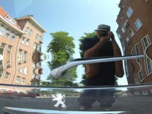 Michael Jacobs | Car rear window, Amsterdam | Amsterdam, Netherlands