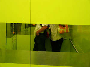 Rebecca | in the koolhaas elevator | seattle, wa