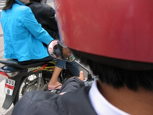 daan leussink | getting a ride | on the back of the bike, ubon ratchatani, eastern thailand
